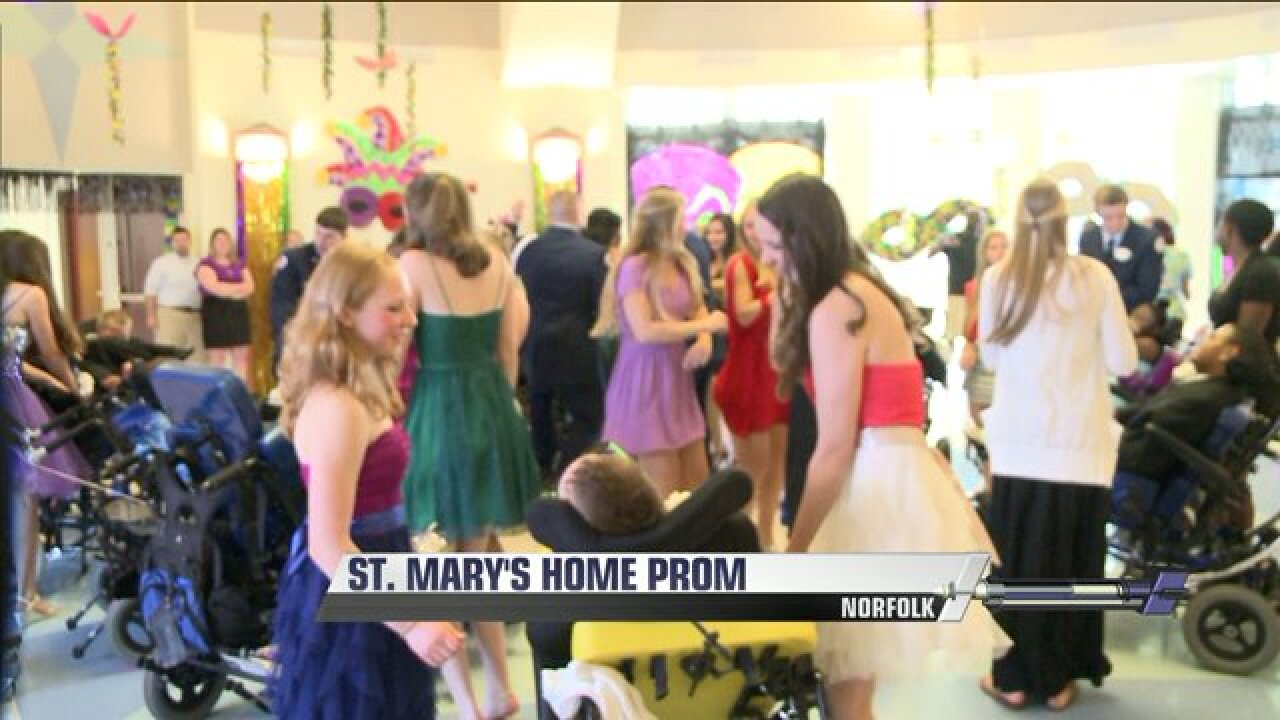 Teens from Saint Mary's Home enjoy prom