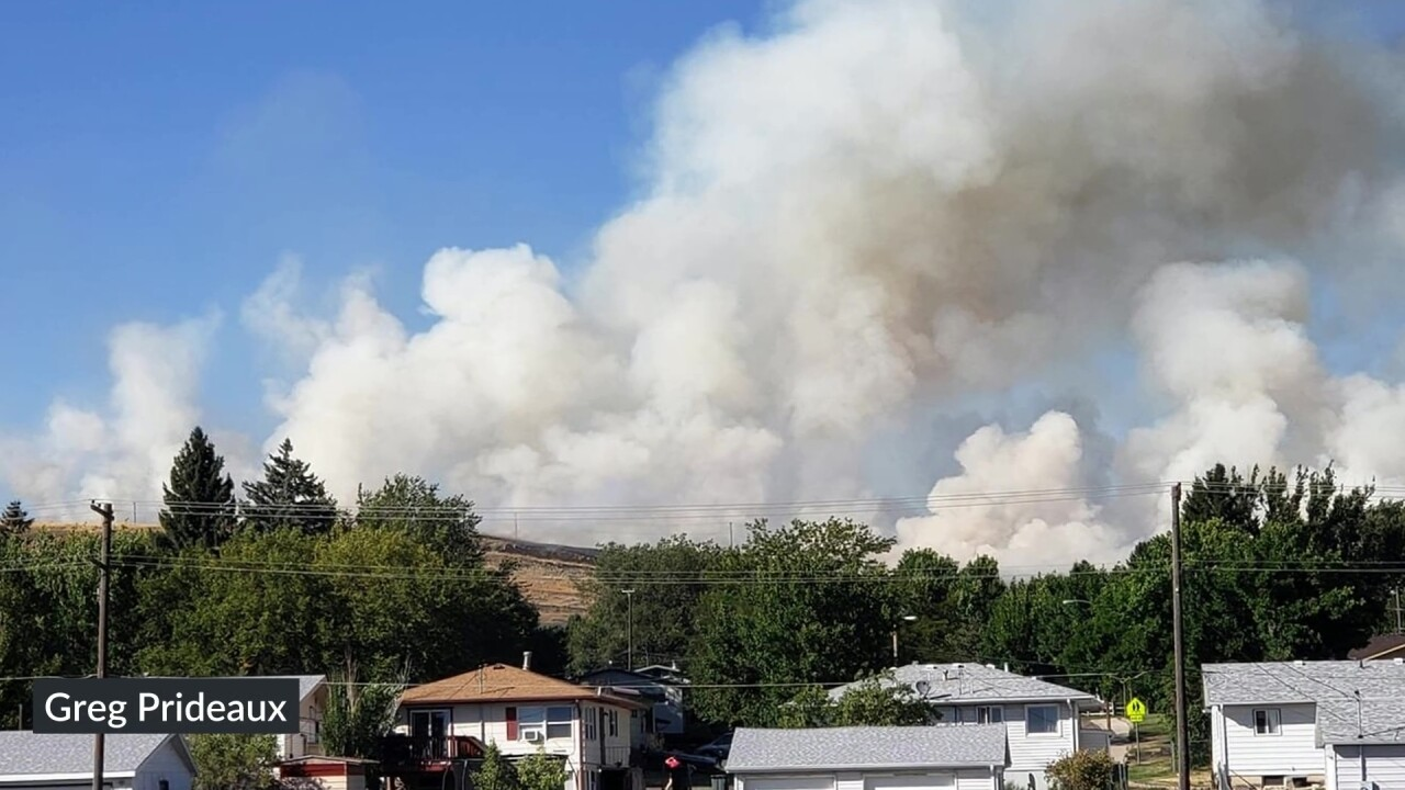 Fire near Hill 57
