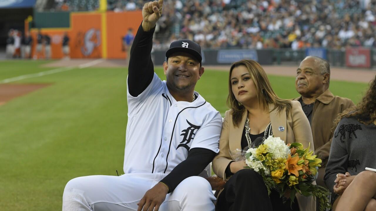 Miguel Cabrera, Rosangel Cabrera Tigers Baseball