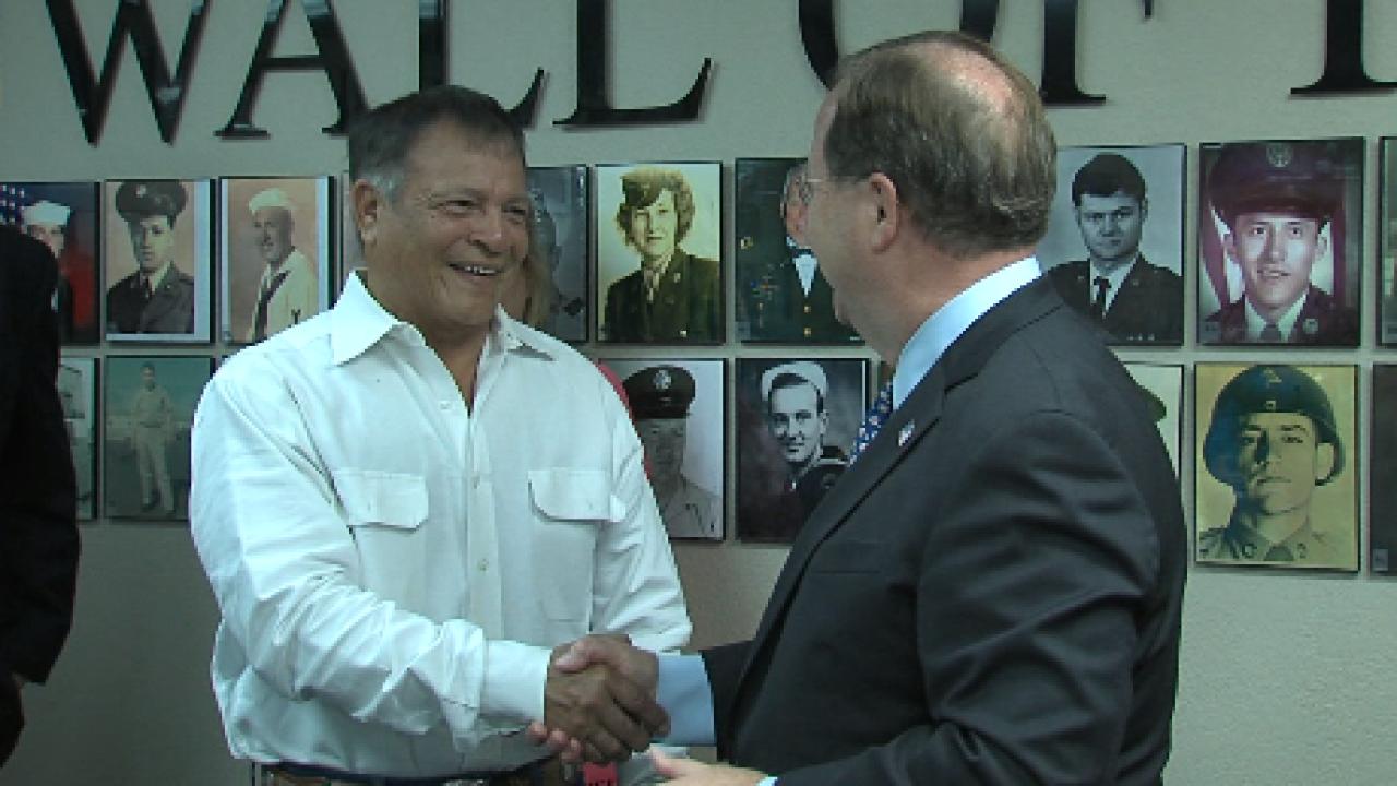 Congressman Flores awards three veterans with Congressional Veteran Commendation