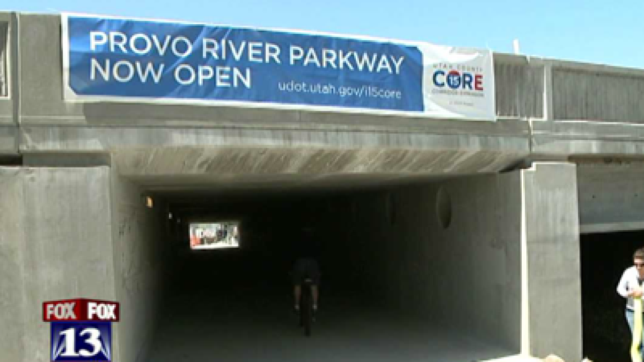 Improved Provo River Trail reopens