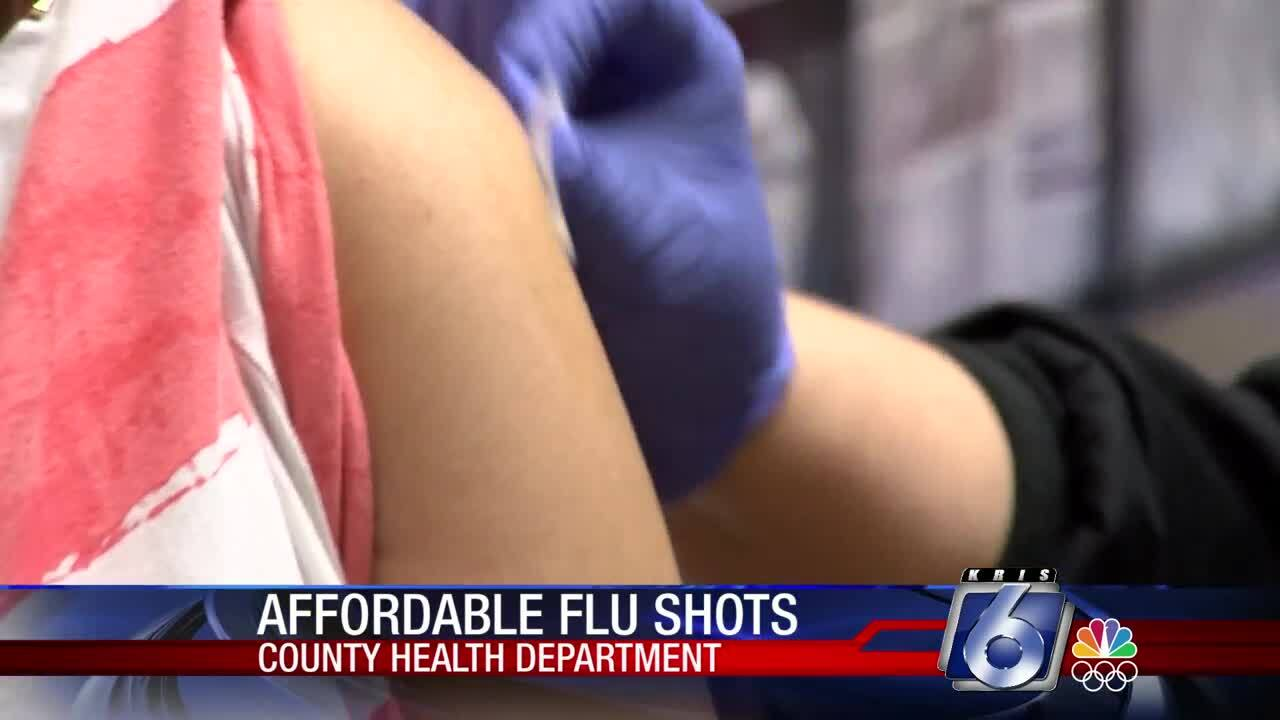 Flu shots at the Nueces County Health Department