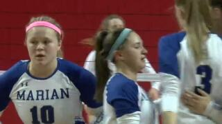 Nebraska State Volleyball: Omaha Marian downs Papillion-La Vista