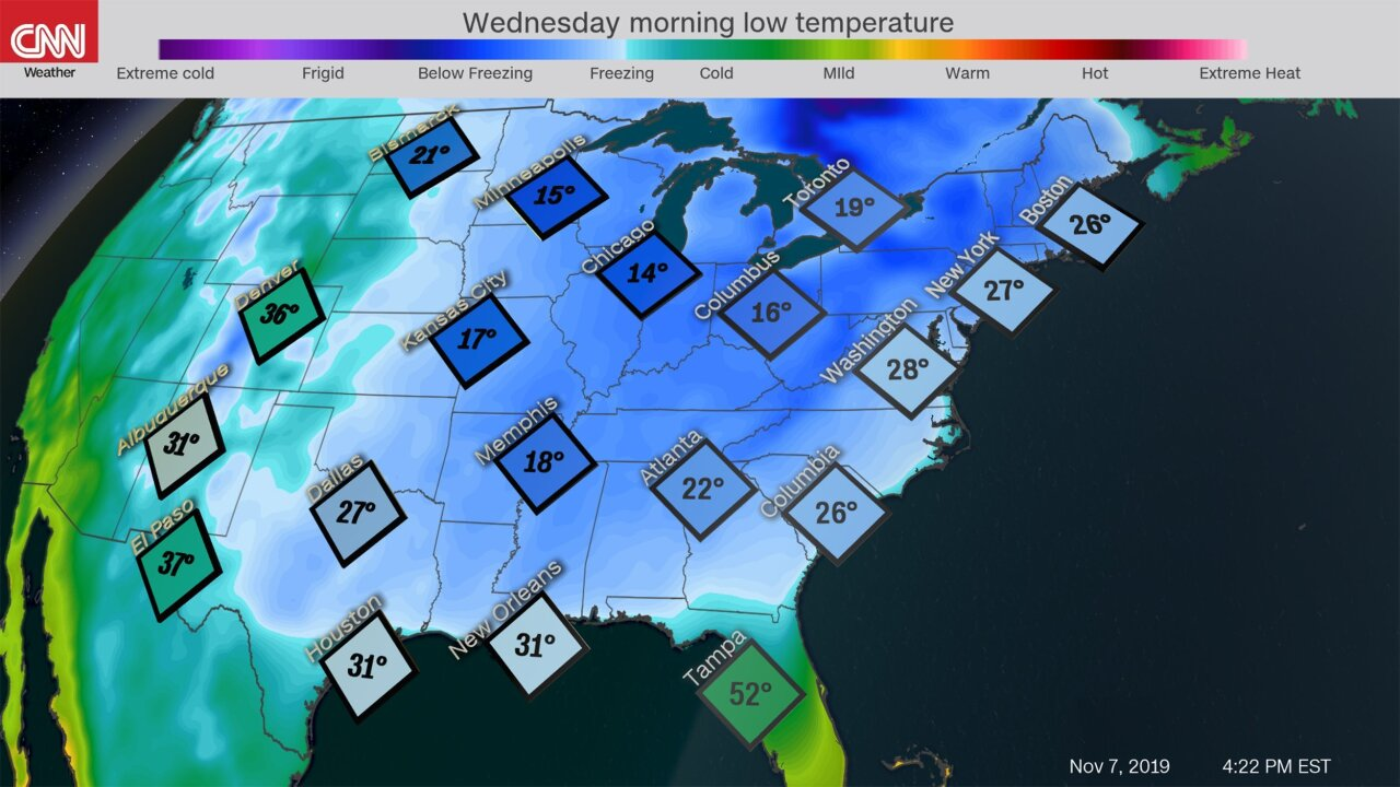 Arctic plunge could bring record low temperatures to the Eastern US