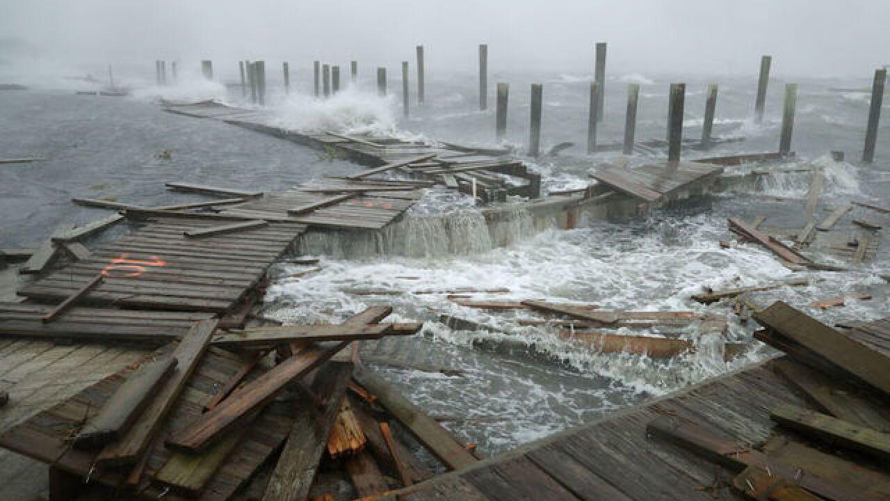 Hurricane Florence about to make landfall