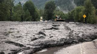 Mudslide near Marble on County Road 3