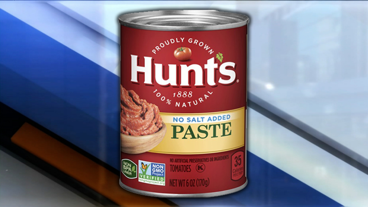 Hunt's tomato paste recalled due to mold