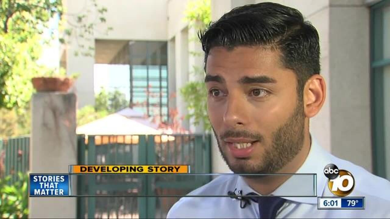 Rep. Hunter's opponent speaks about indictment