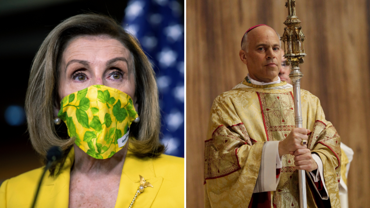 Nancy Pelosi, Bishop Salvatore J. Cordileone
