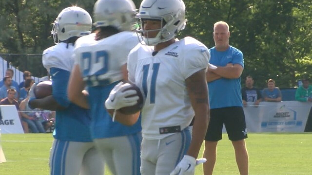 Lions WR Marvin Jones returns to practice, RB Blount leaves field