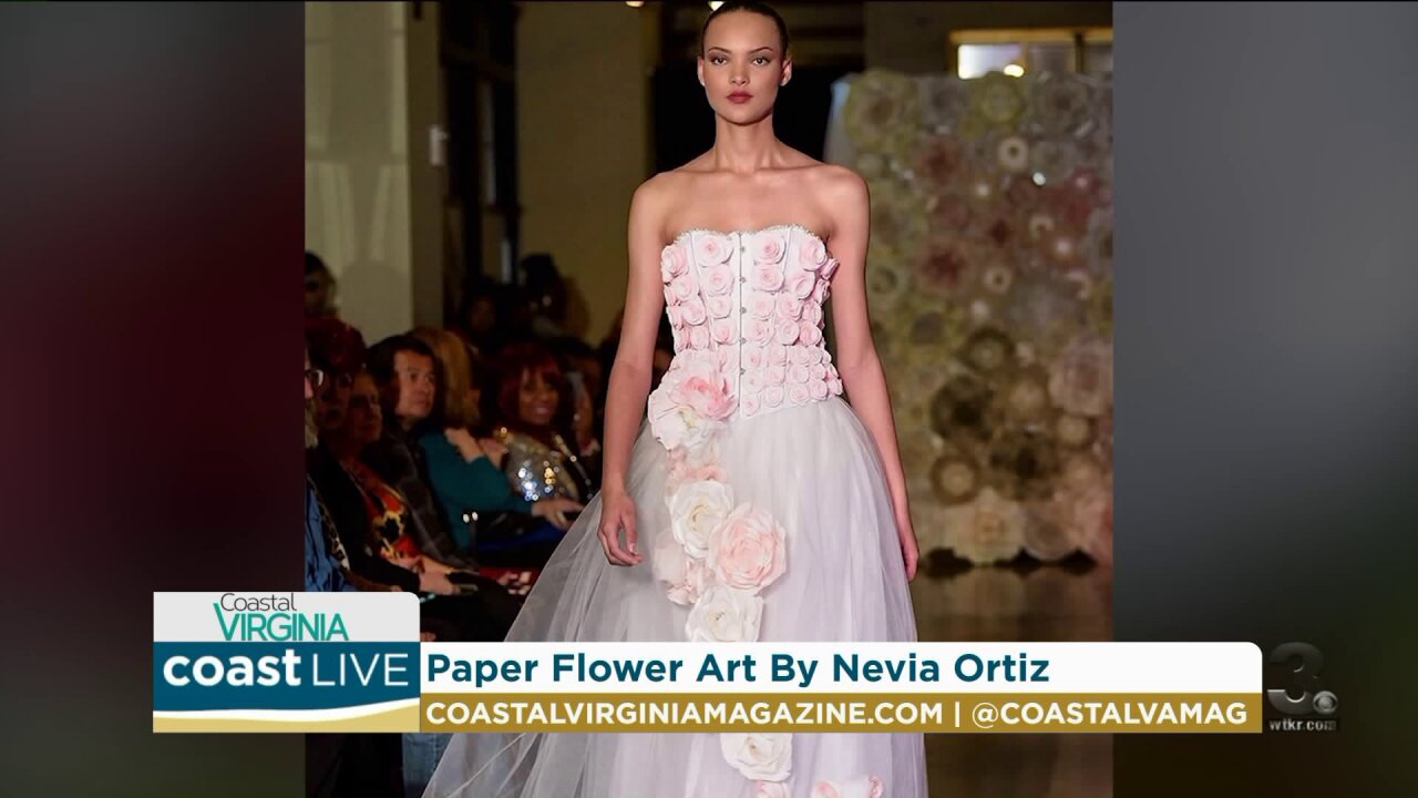 An artist creates paper flowers that last a lifetime on Coast Live