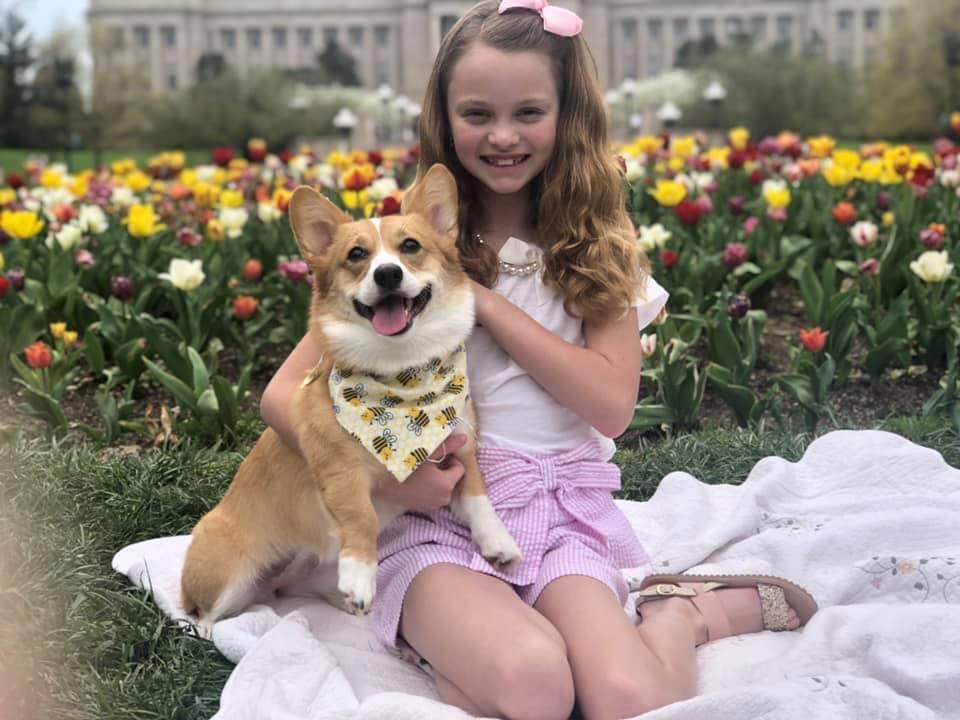 Honeybee and owner Josie