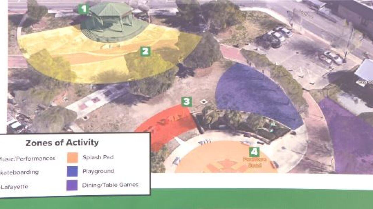 Play area in Parc Sans Soucci