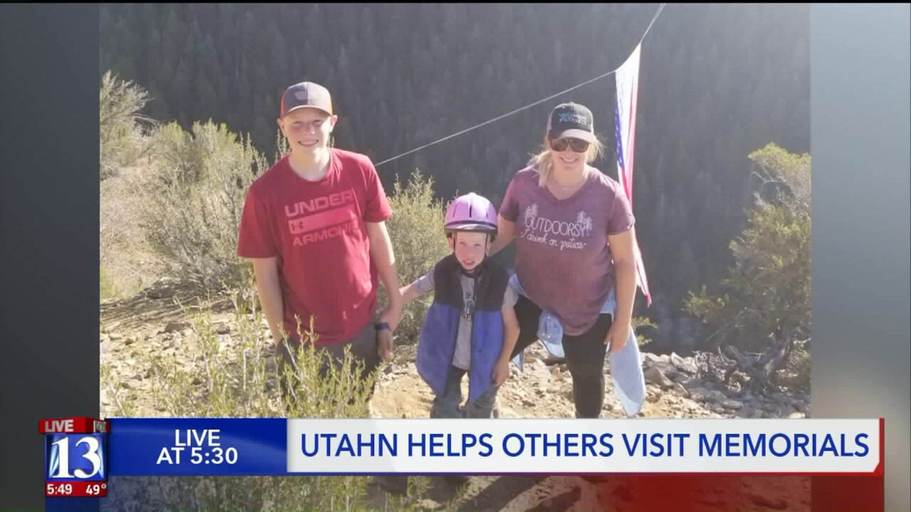 Utahn helps take others up the mountain to see 'The Major' flag