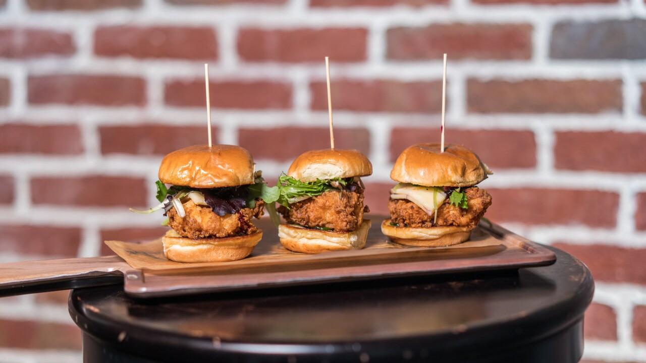 Mini Fried Chicken Sandwiches
