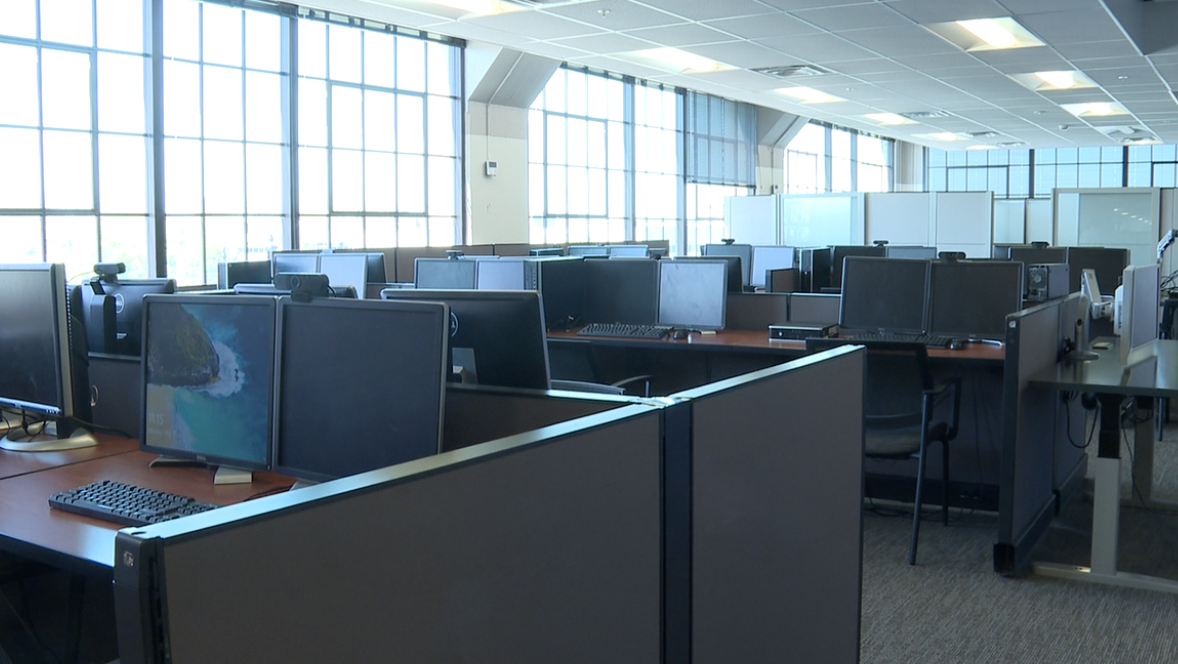 The new employee office space sits empty right now