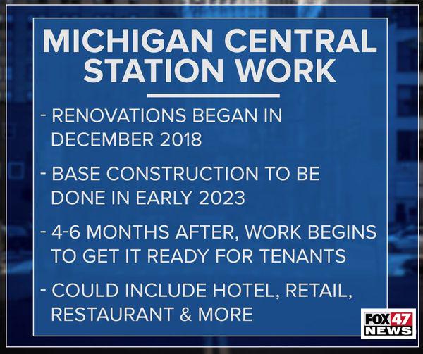 Michigan Central Station Work