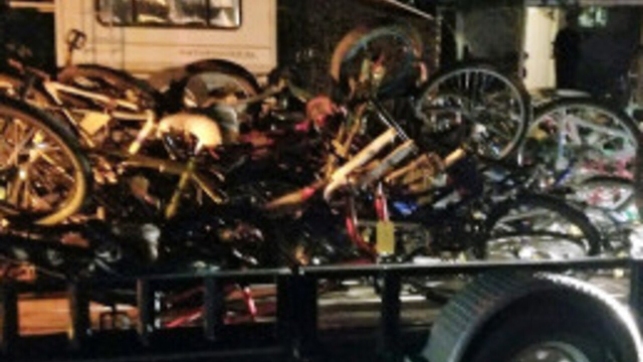 Grand Junction police recover 80 bicycles after using 'bait bike' to catch suspects
