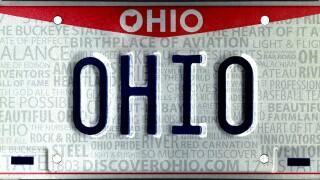 Ohio License Plate Generic