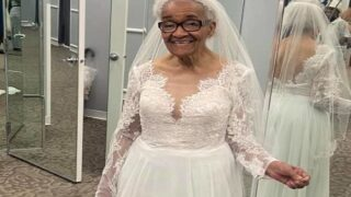 94-Year-Old Gets To Try On Wedding Dress After Not Being Allowed In Bridal Shop In 1952