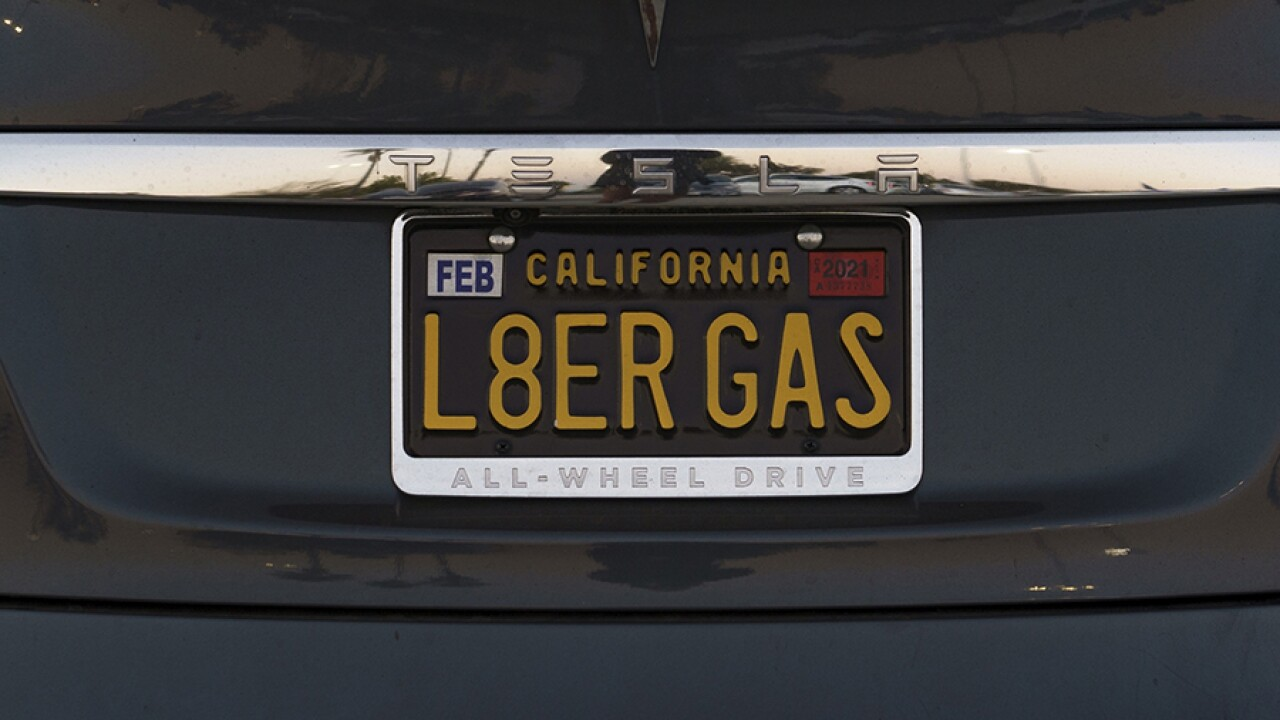 California vanity personalized license plate