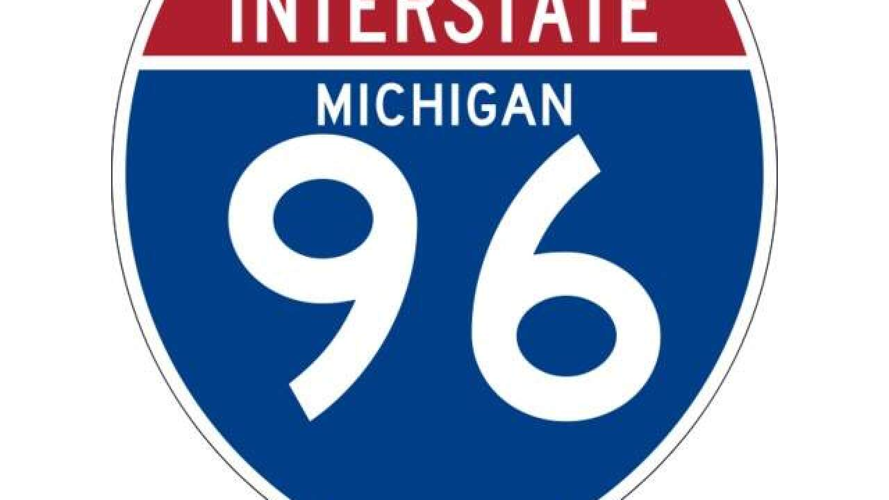 Westbound I-96 down to one lane after crash