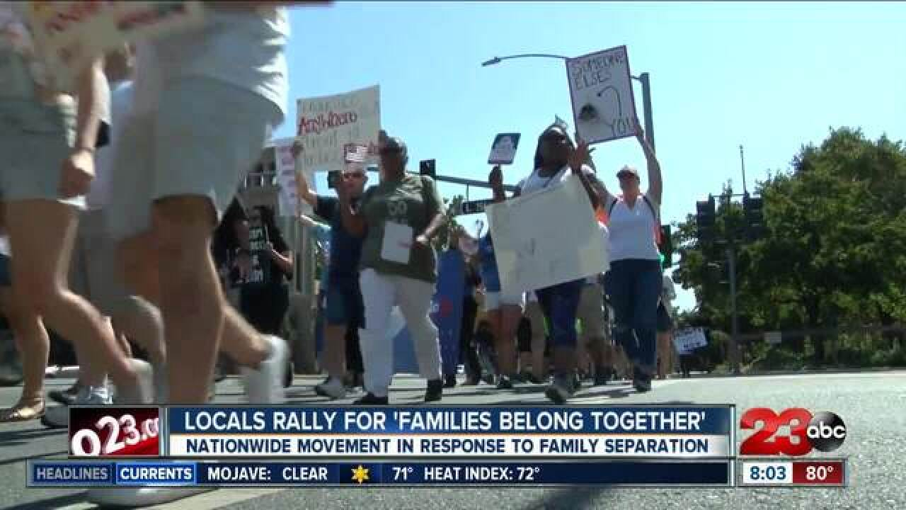 """Local """"Families Belong Together"""" support rally"""