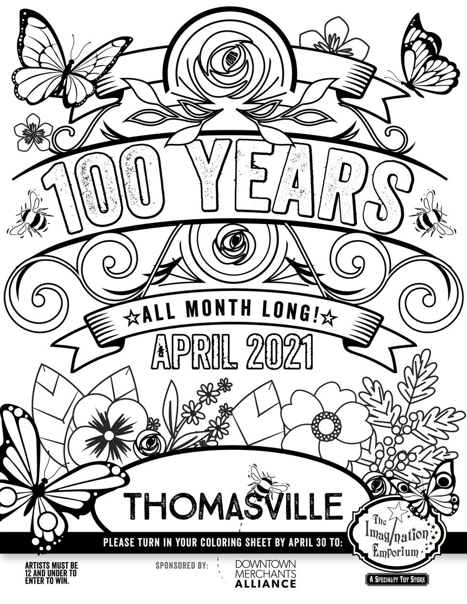 Downtown Thomasville Merchandise Alliance Coloring Contest