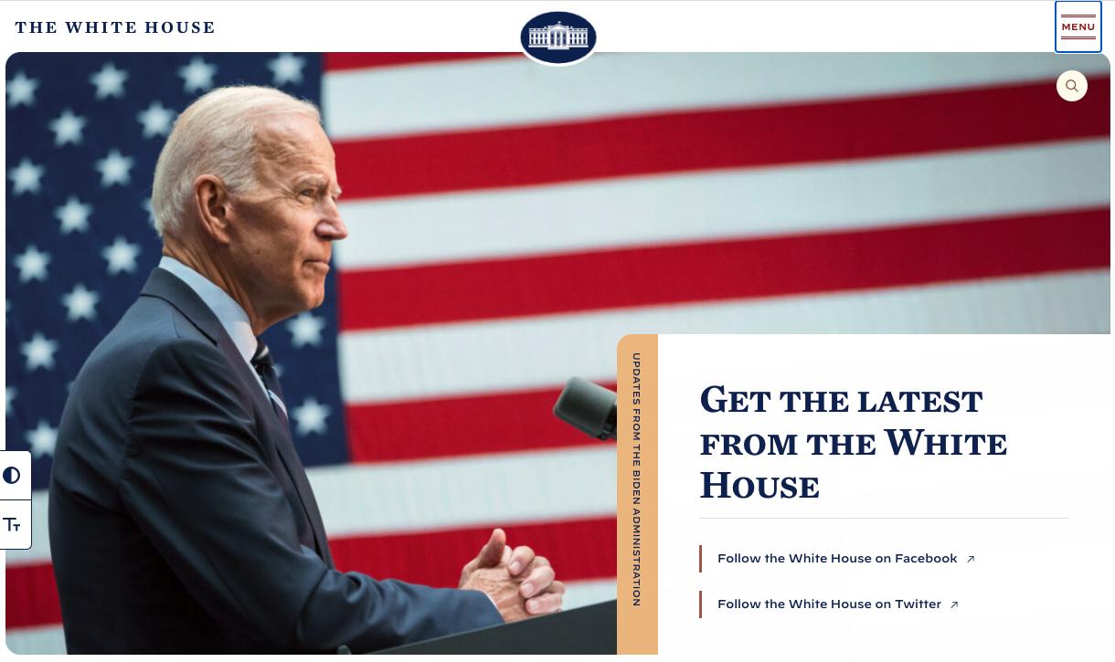 new white house website