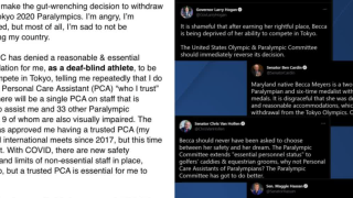 Baltimore Parathlete says Olympic Committee won't accommodate her disabilities, withdraws from Olympics