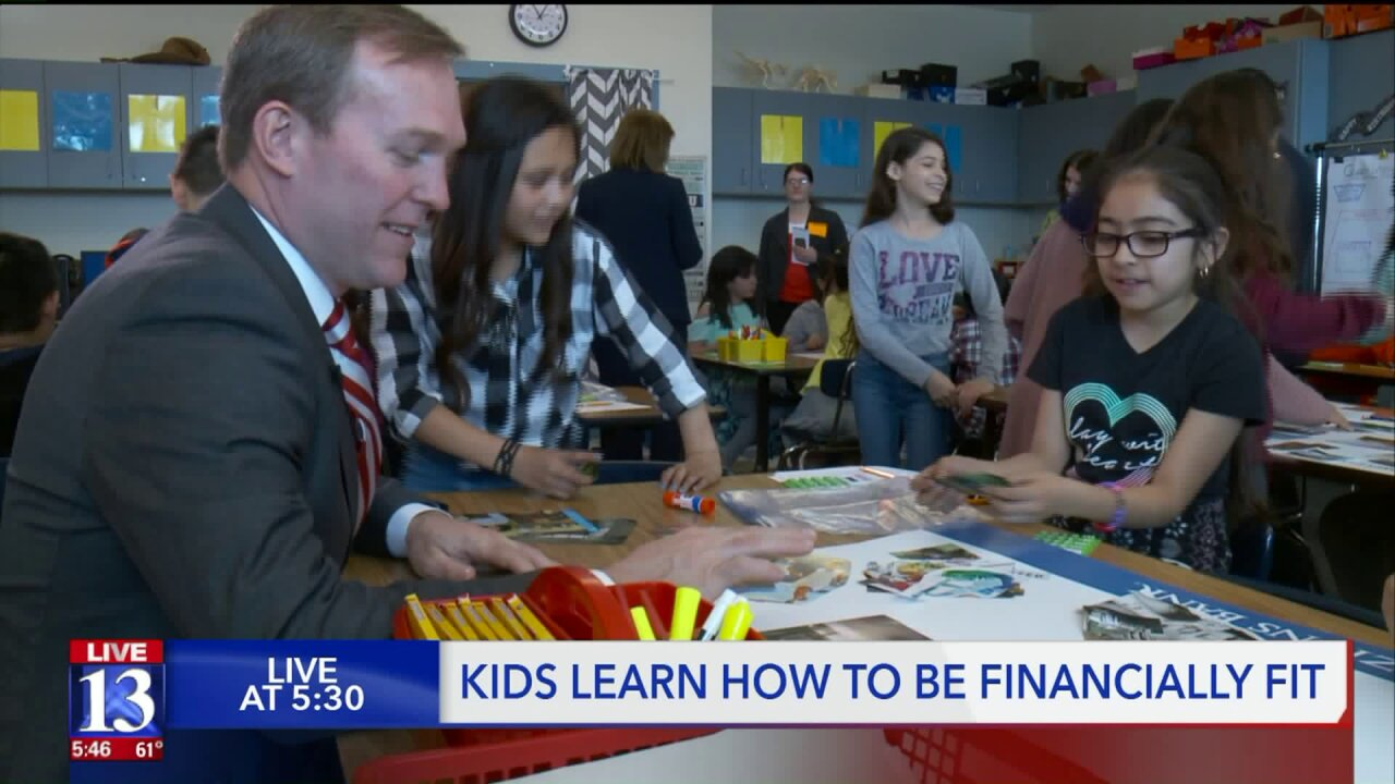 West Valley 4th-graders get lesson in finance from Rep. McAdams, Zions Bank CEO