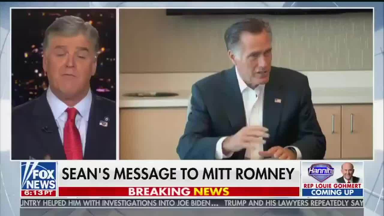 Fox host Sean Hannity rips Utah Senator Mitt Romney for his role in President Trump's impeachment trial