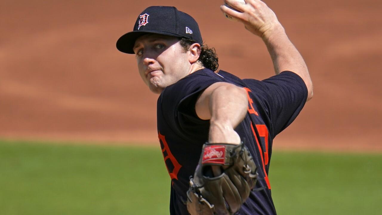 Casey Mize Tigers Pirates Spring Baseball