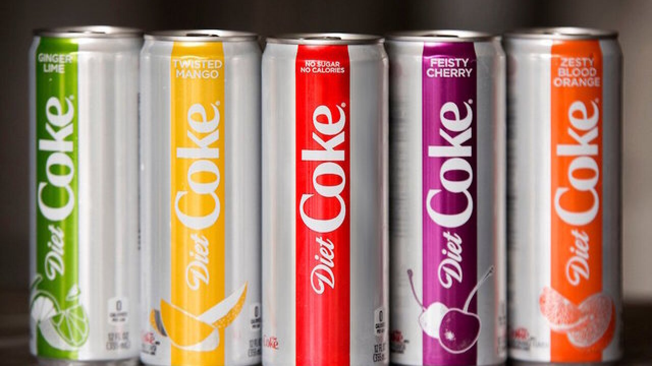 Diet Coke sees boost in sales; new flavors, skinny cans drive popularity