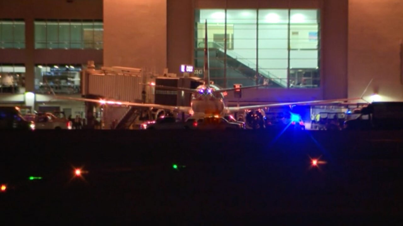 Man jumps on wing of plane at Miami International Airport on Sept. 29, 2021