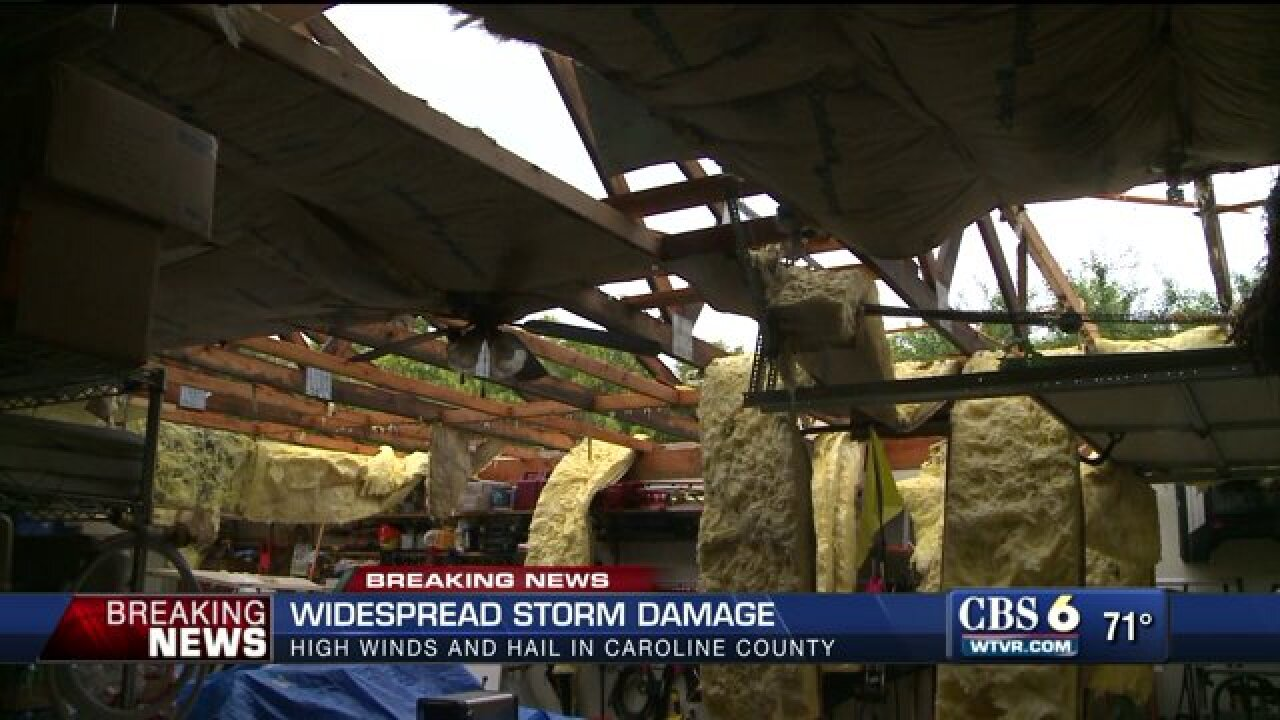 Strong storms cause widespread damage, knock out power tothousands