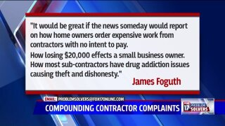 Customers' complaints about local contractor also on BBB'sradar