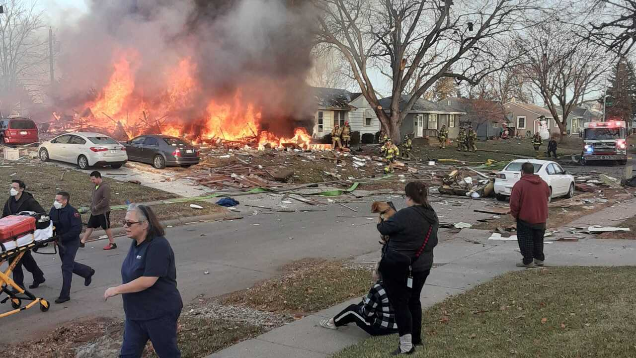 Omaha fire and explosion