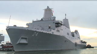 USS Arlington leaves for Haiti (August 17) 2.PNG