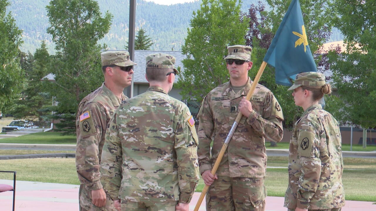 Montana National Guard holds change of command ceremony for 103rd Public Affairs Detachment
