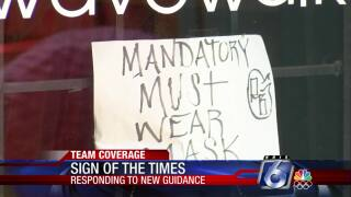 Some Coastal Bend merchants are again requiring facemasks for customers
