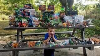 A 5-year-old cancer survivor donates 3,000 toys to the children's hospital where he was treated.