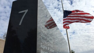 Delhi Township installs seventh wall to honor veterans at memorial park
