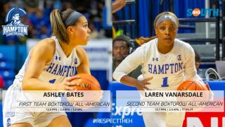 Ashley Bates and Laren VanArsdale (Courtesy: Hampton Athletics)