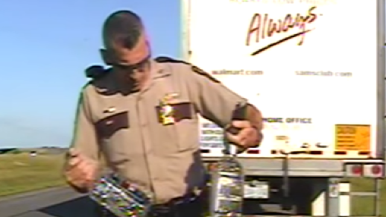 Video: Drunk semi driver swerves across highway