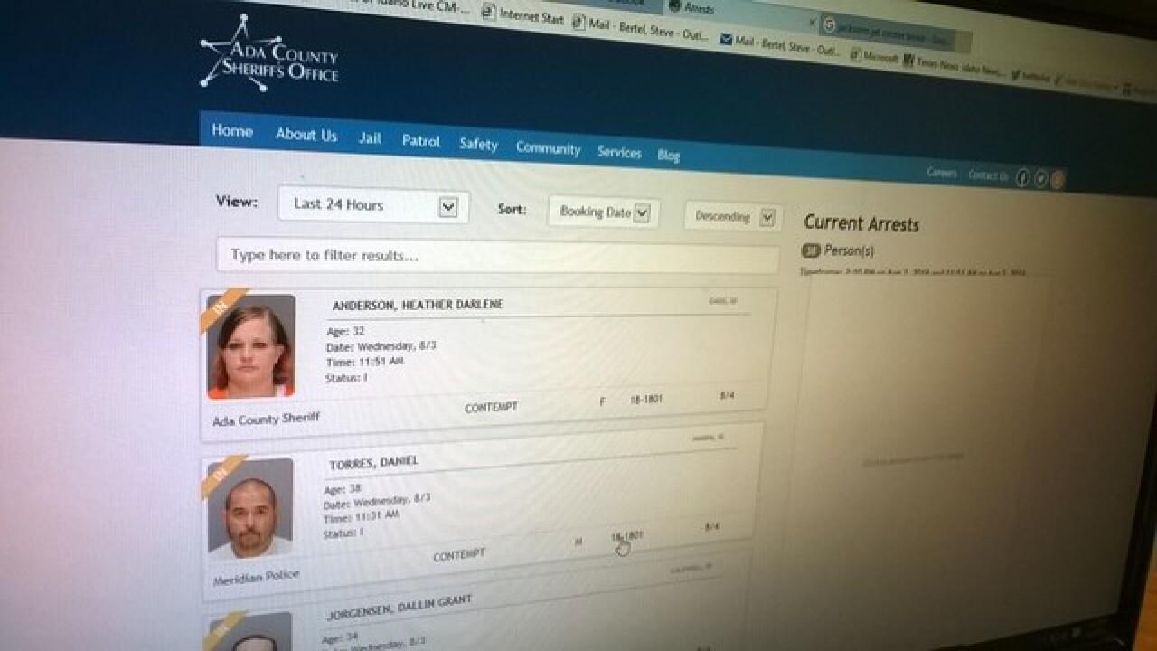 Popular Ada County Sheriff's Office on-line arrest list to