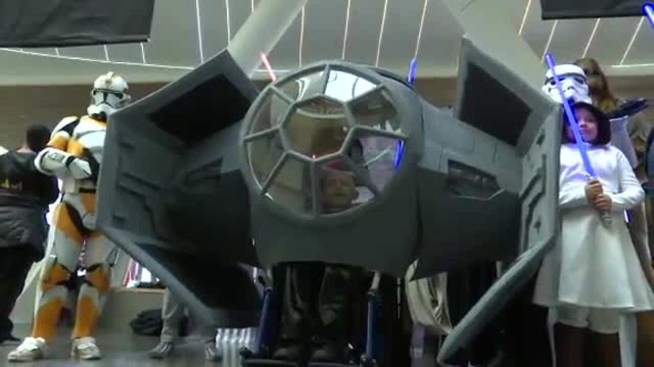 Boy battling cancer gets 'Star Wars' wheelchair just in time for Halloween