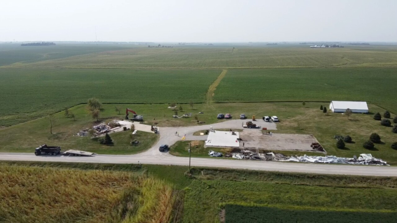 2 weeks after derecho, Iowa farmers still cleaning up damage from 140 mph winds