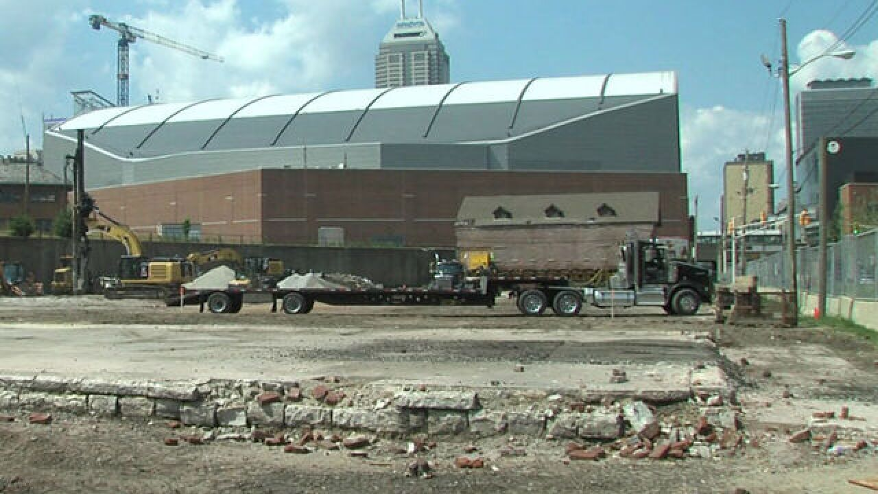 WATCH: Historic Indy building carefully moved