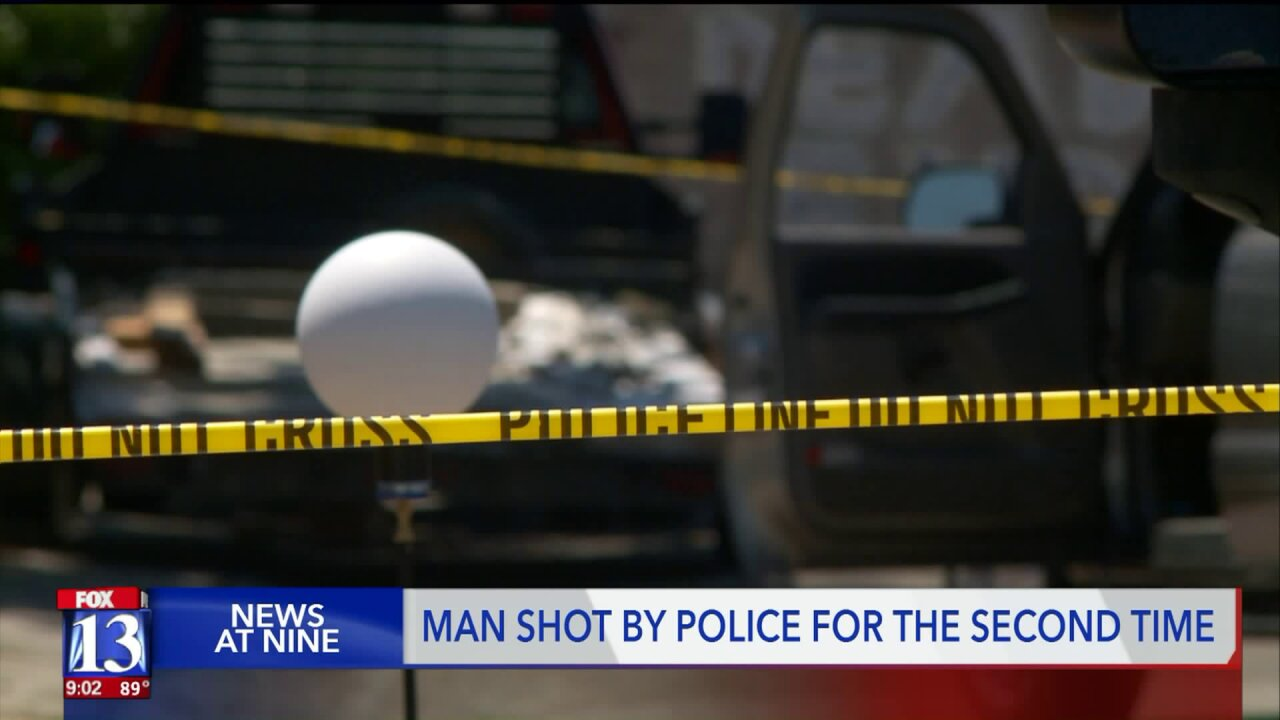 Man shot by police for the second time in two years